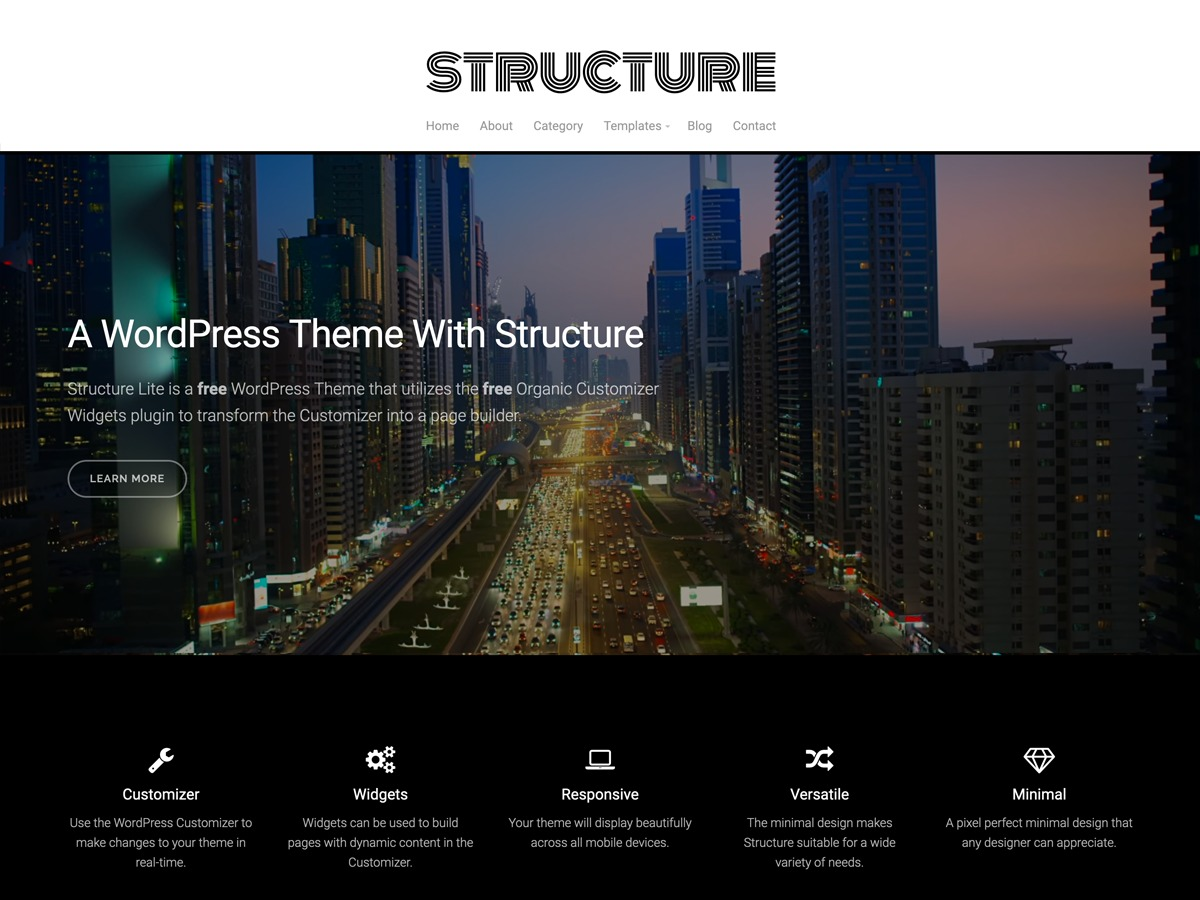 Structure Lite WordPress blog template