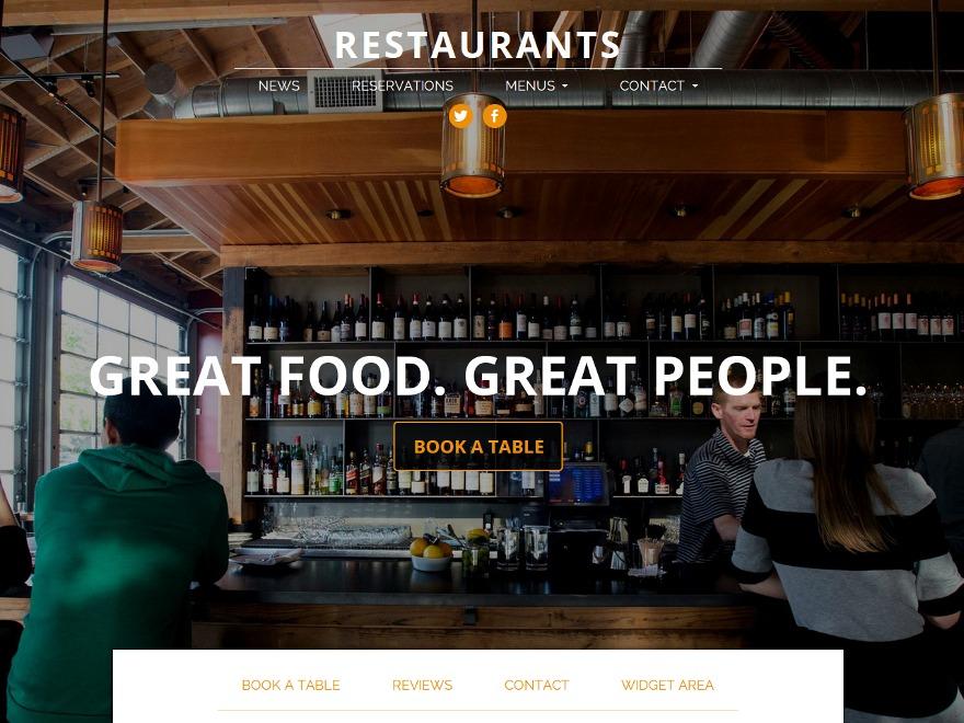 The Spot best restaurant WordPress theme