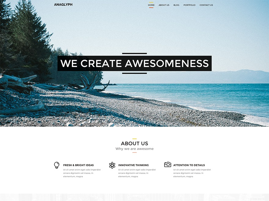 Theme WordPress Anaglyph