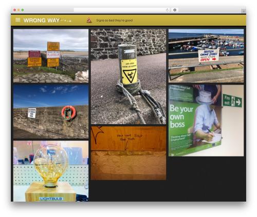 Theme WordPress Lookbook - wrongway.co.uk