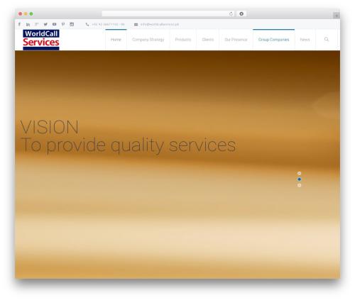 Theme WordPress Salamat - worldcallservices.pk