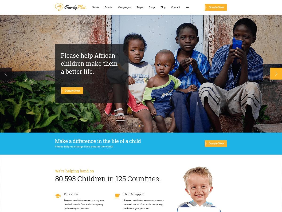Theme WordPress SP CharityPlus