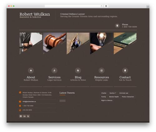 Themis - Responsive Law Business WordPress Theme WordPress template for business - wulkanlaw.ca