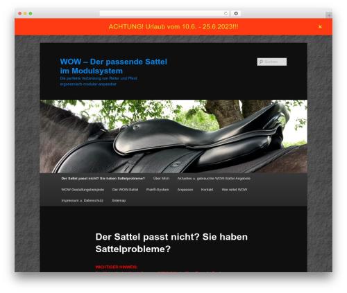 Twenty Eleven theme WordPress - wow-sattel.de