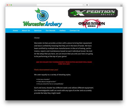Twenty Thirteen WordPress theme - worcesterarchery.com