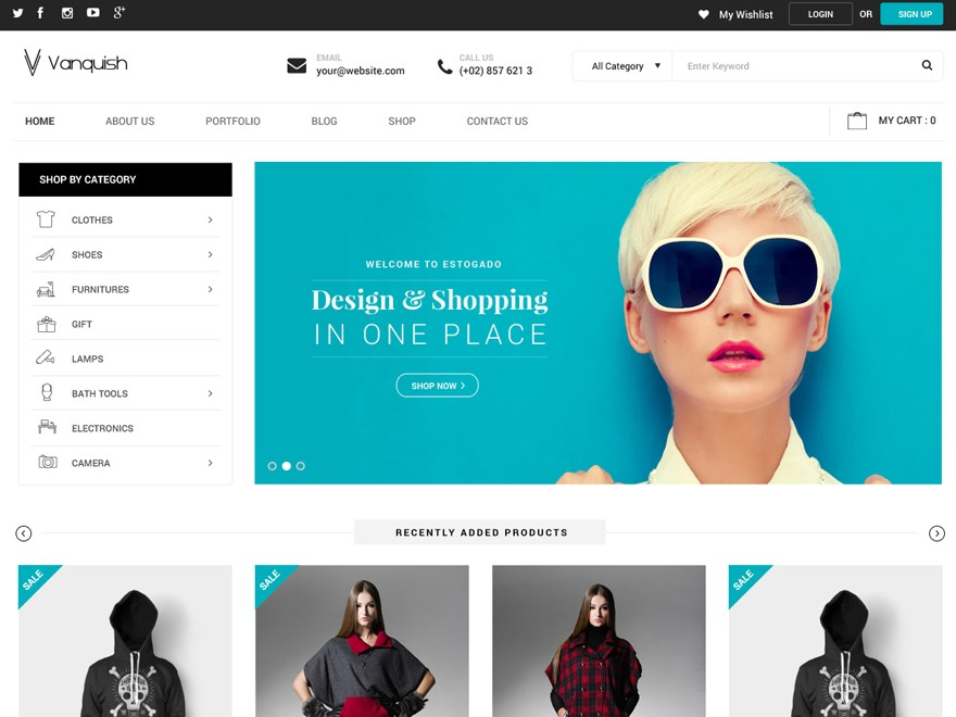 Vanquish WordPress shop theme