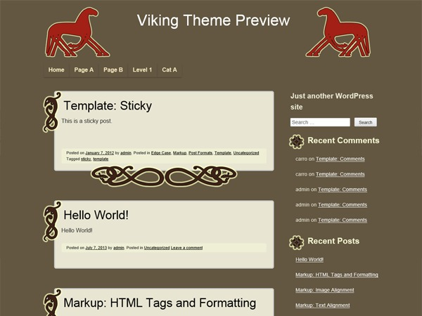 Viking template WordPress free