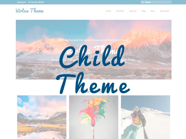 Virtue Child Theme WordPress page template