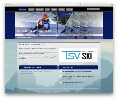 Wallpapered theme WordPress - wiggensbach-ski.de