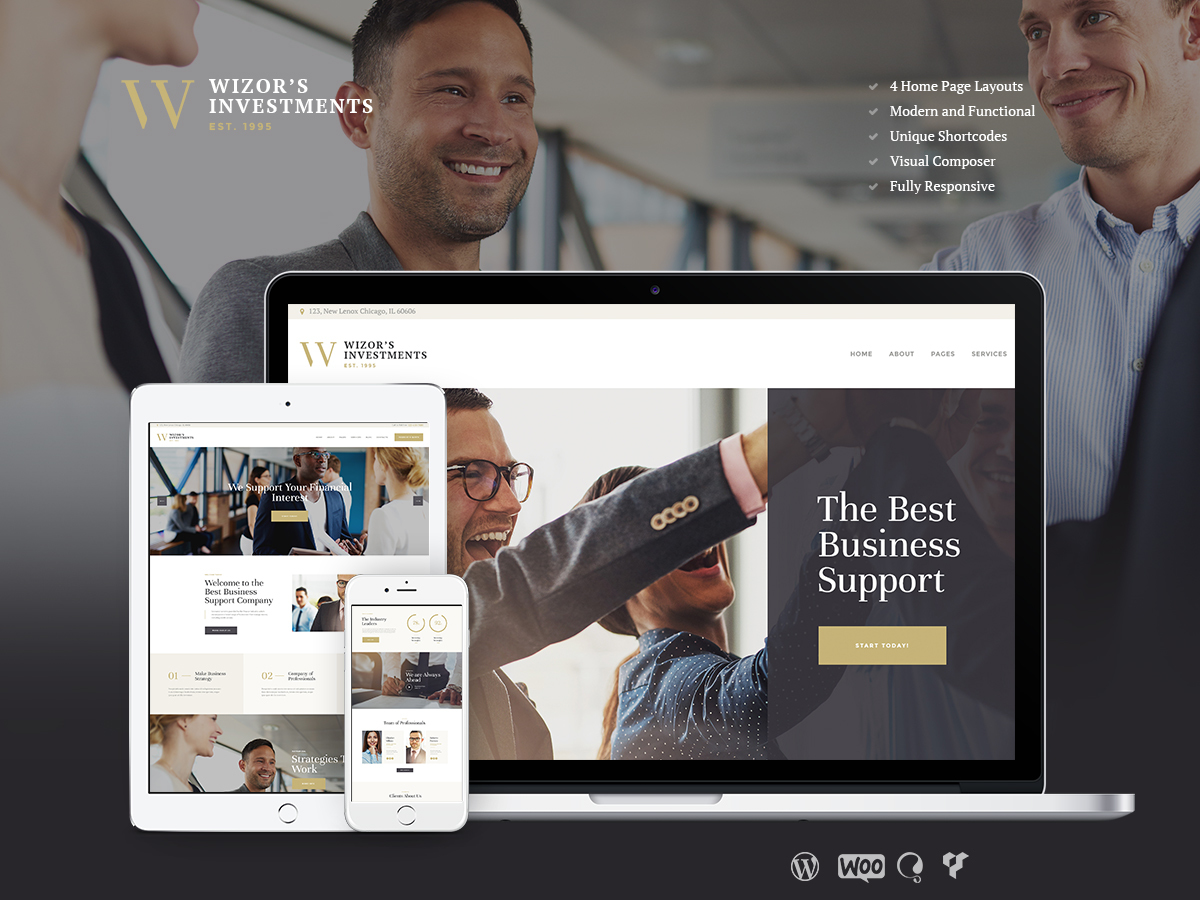 Wizors Investments WordPress blog theme