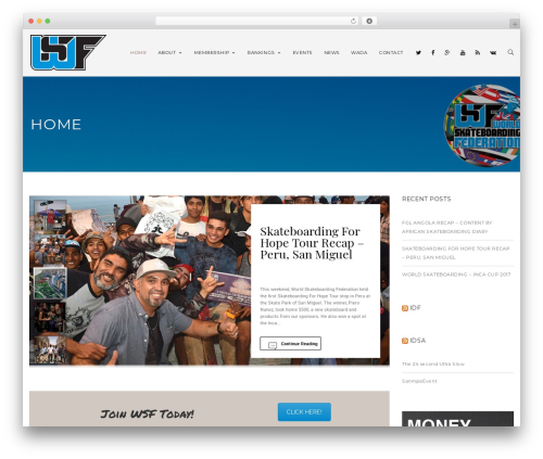 Wolverine WordPress theme design - worldskateboardingfederation.org