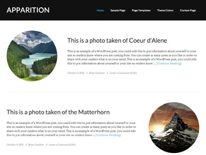 WordPress template Apparition Child Theme