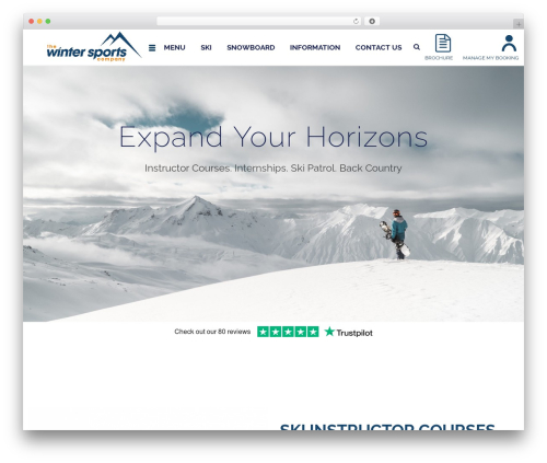 WordPress template Jupiter - wintersportscompany.com