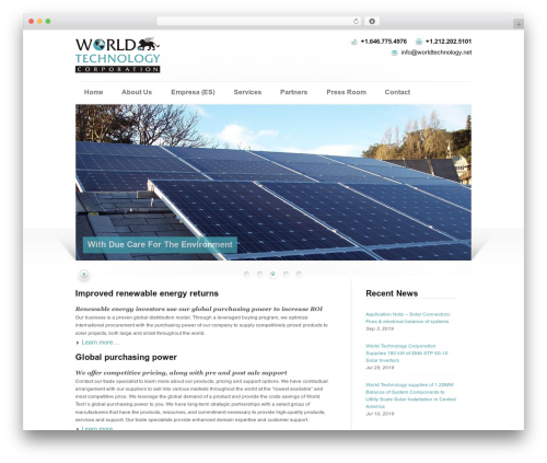 WordPress template Modulo - worldtechnology.net