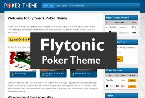WordPress template Poker Theme