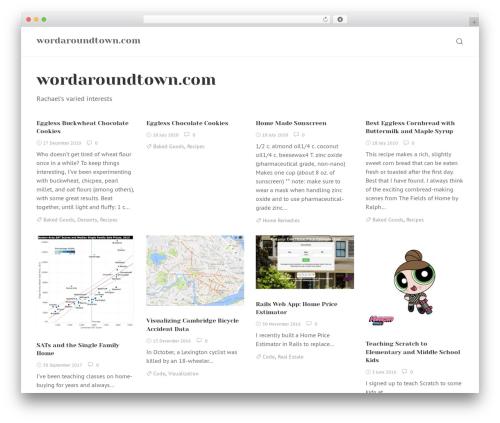 WordPress template Rinzai - wordaroundtown.com
