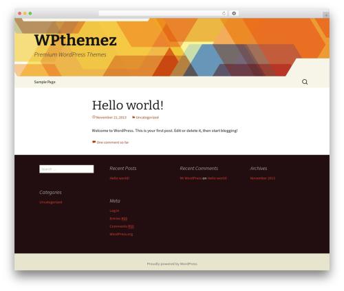 WordPress template Twenty Thirteen - wpthemez.com