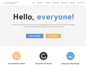 WordPress theme Gavern