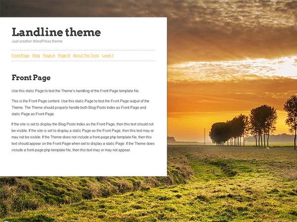 WordPress theme Landline