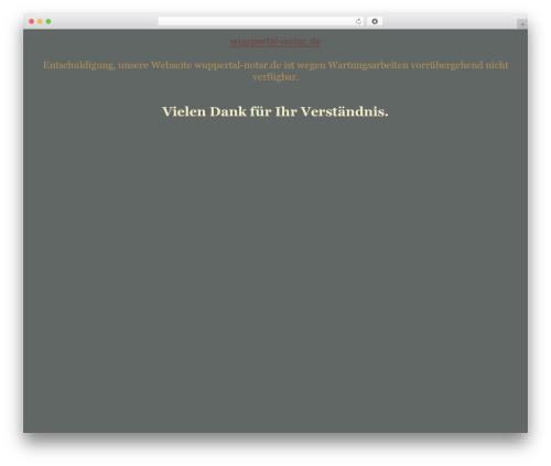 WordPress theme tegude - wuppertal-notar.de