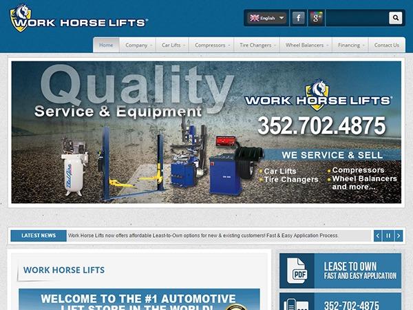 WordPress theme Work Horse Lifts