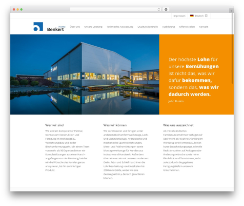 WordPress theme WZB Benkert - wzb-benkert.net
