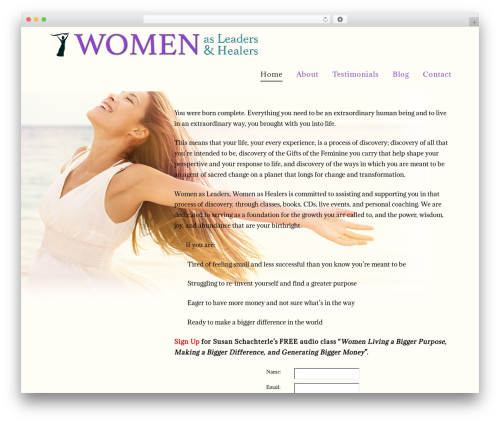 WordPress theme X - womenasleadersandhealers.com