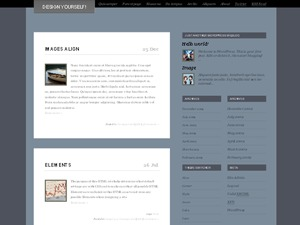WordPress website template Rostar