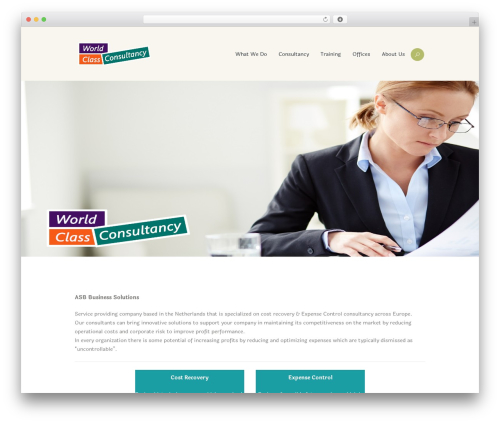 WordPress website template WineShop - worldclassconsultancy.com