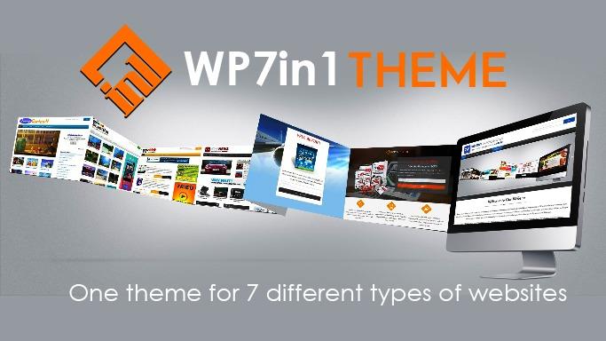 WordPress website template WP 7in1