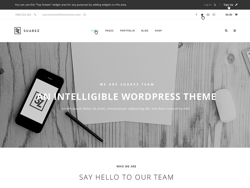 WP Suarez WordPress news theme