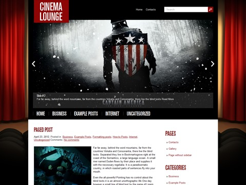 WP template CinemaLounge