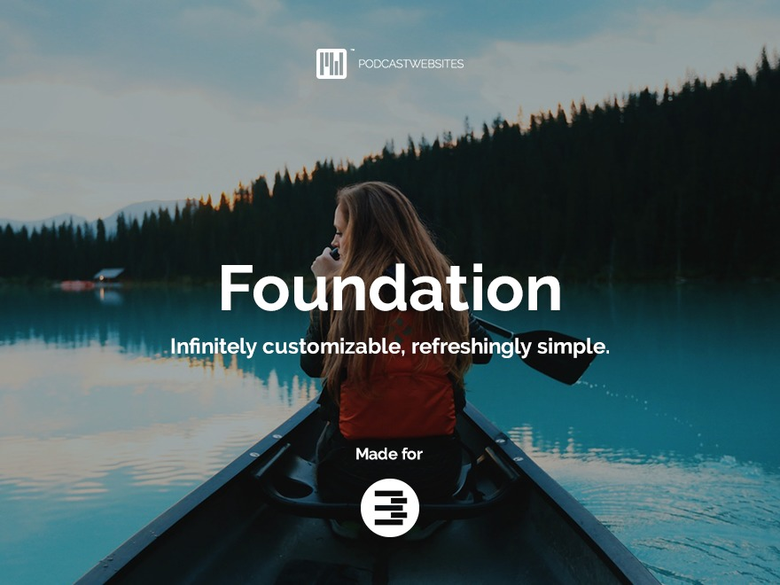 WP template Foundation by Podcast Websites