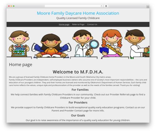 BlueGray WP theme - moorefamilychildcare.com