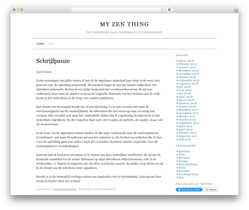 Brunelleschi best WordPress theme - myzenthing.com
