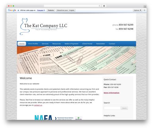Customized company WordPress theme - mytaxkat.com