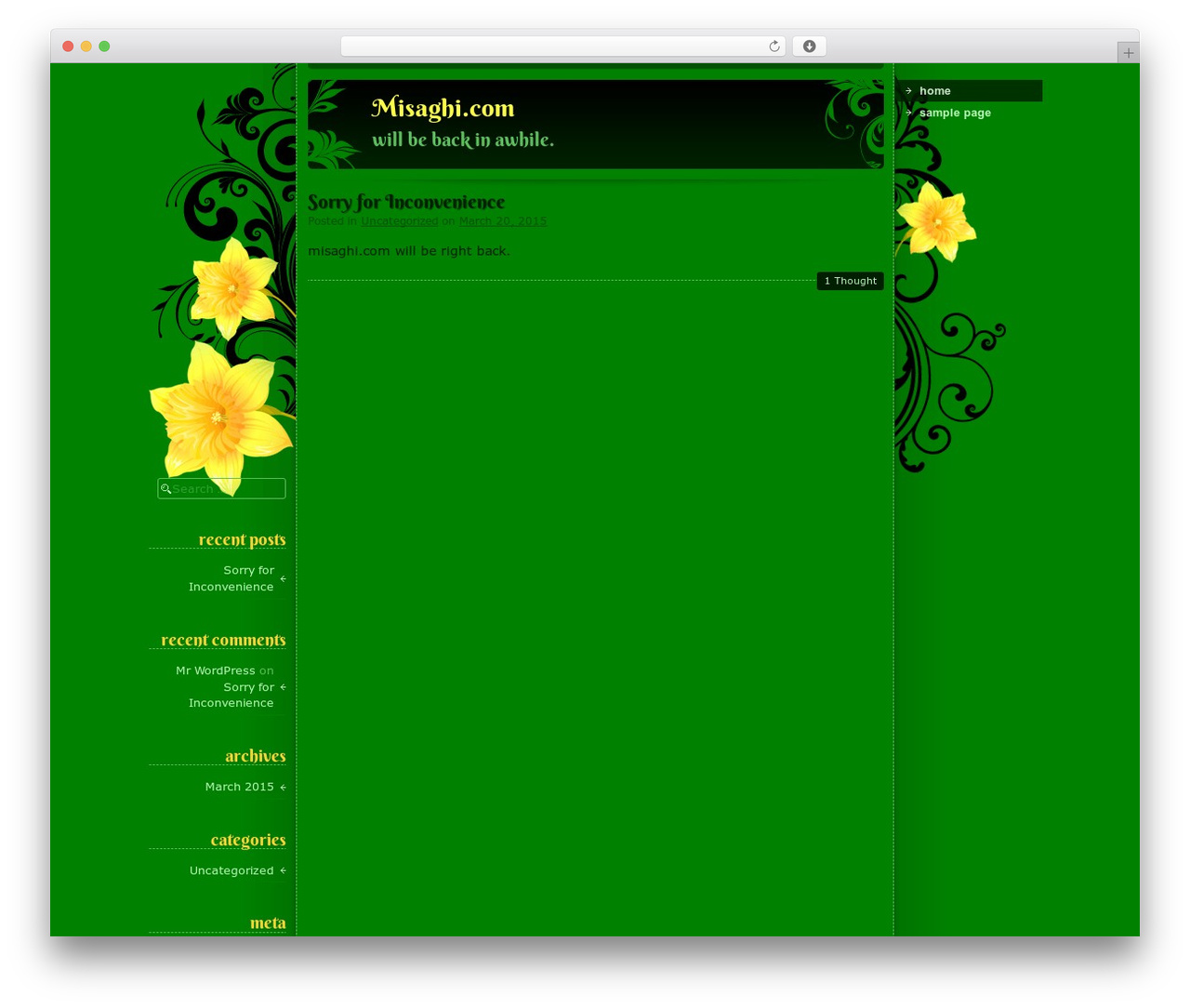 daffodil template wordpress by ying zhang misaghi com