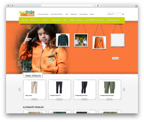 eStore WordPress template free - mydogastore.com