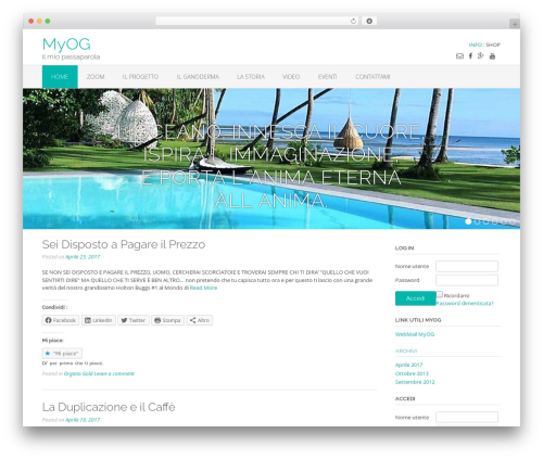 Oceanic Premium top WordPress theme - myog.it