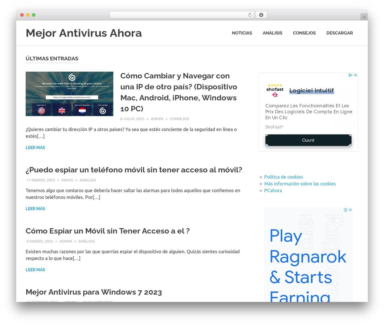 Poseidon free WordPress theme - mejorantivirusahora.com