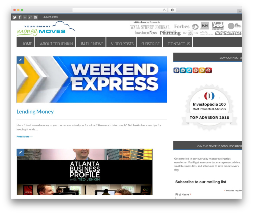 RapidNews WordPress news theme - yoursmartmoneymoves.com