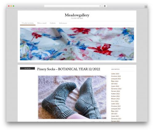 Skirmish photography WordPress theme - meadowgallery.cz
