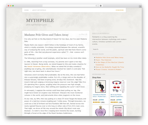 Template WordPress Tribune - mythphile.com