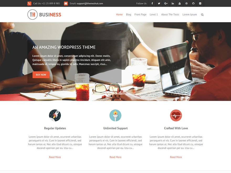 THBusiness Pro business WordPress theme