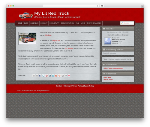 WordPress simple-content-reveal plugin - mylilredtruck.com