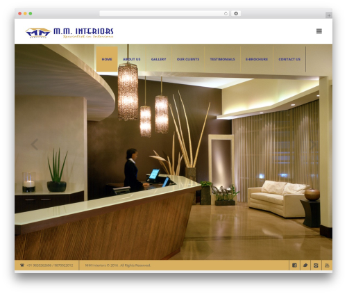 Modern Interior WordPress page template by mad_dog - page 4