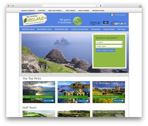 AgentPress Two WP template - myholidayireland.com