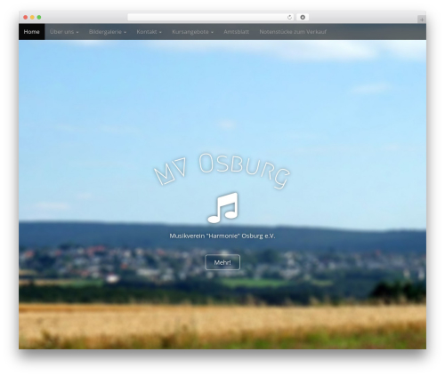 Arcade Basic WordPress website template - musikverein-osburg.de