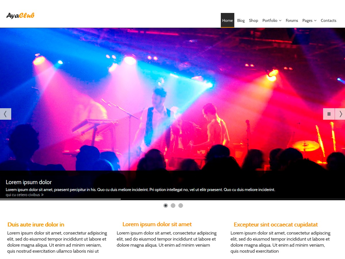 AyaClub WordPress theme