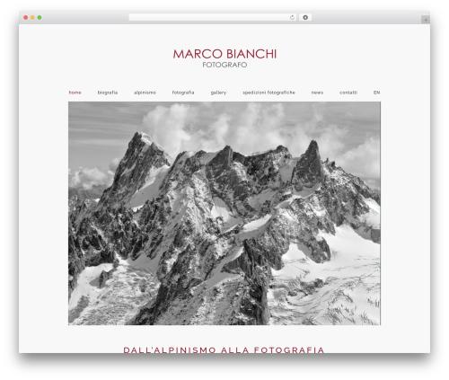 Best WordPress theme Namo - marcobianchifotografo.it/it